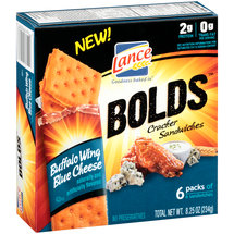 Lance Bolds Buffalo Wing Blue Cheese Sandwich Crackers