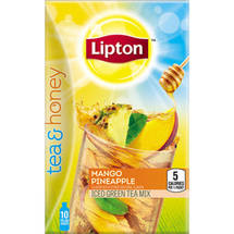 Lipton Tea & Honey Mango Pineapple Iced Green Tea To-Go Packets
