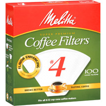 Melitta No. 4 Cone Coffee Filters