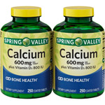 Spring Valley Calcium Supplement 600 mg with Vitamin D