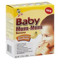 Hot Kid Baby Mum Mum Banana Rice Rusks