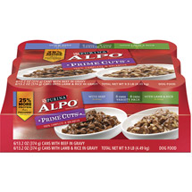 Alpo Wet Prime Cuts In Gravy Dog Food Variety Pack