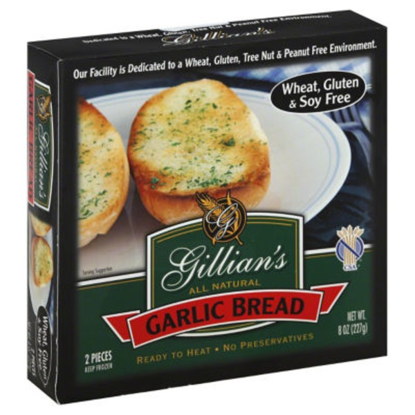Gillian's All Natural Garlic Bread - 2 CT