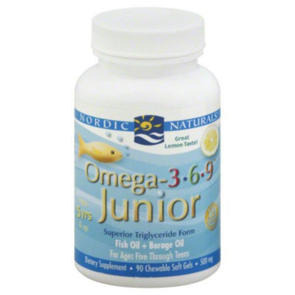 Nordic Naturals Complete Omega Junior Chewable Lemon 500 mg