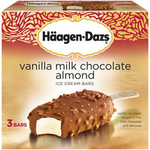 Haagen-Dazs Bars Vanilla & Almonds Ice Cream