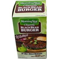 Morning Star Farms Veggie Burger, Black Bean, Corn & Chipotle Pepper, Vegan, 12 Patty, Box