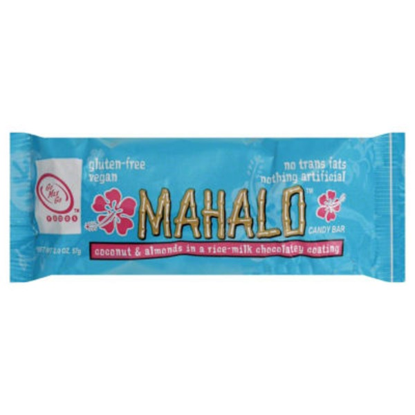 Mahalo Coconut, Almonds, Rice-Milk Chocolatey Coating Candy Bar