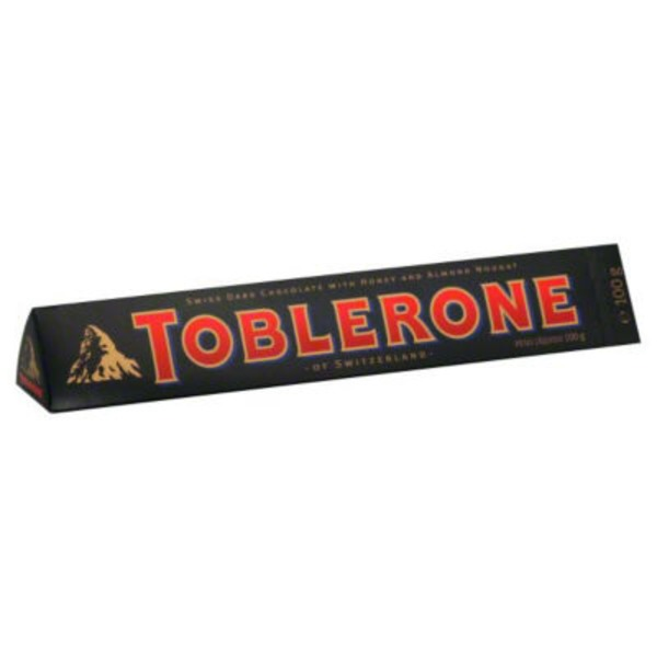Toblerone Swiss Dark Chocolate with Honey & Almond Nougat Candy