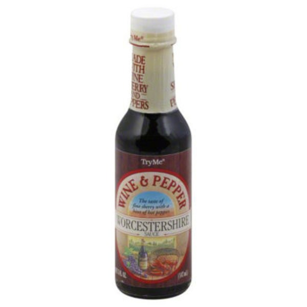 Try Me Worcestershire Sauce, Wine & Pepper, Bottle