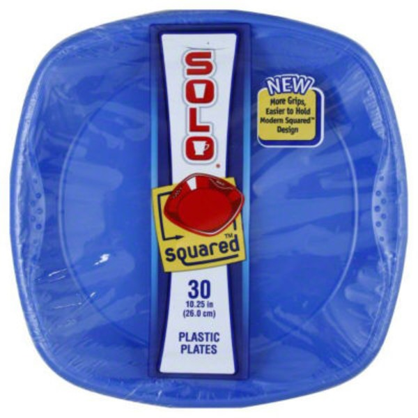Solo Plastic Plates Squared Blue - 30 CT  sc 1 st  Burpy & H-E-B Solo Plastic Plates Squared Blue - 30 CT Delivery Online in ...