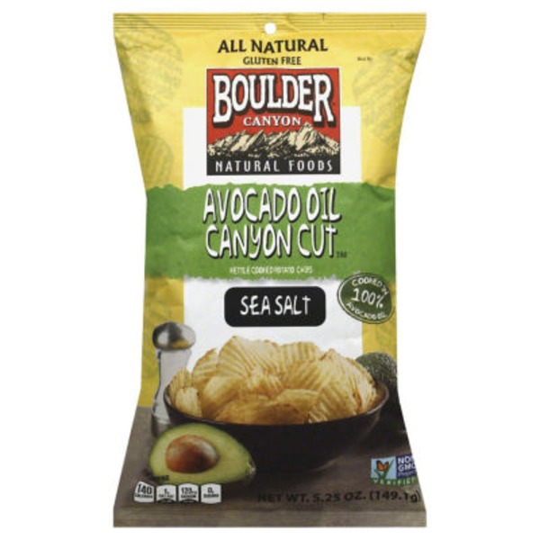 Boulder Canyon Avocado Oil Canyon Cut Kettle Cooked Potato Chips Sea Salt