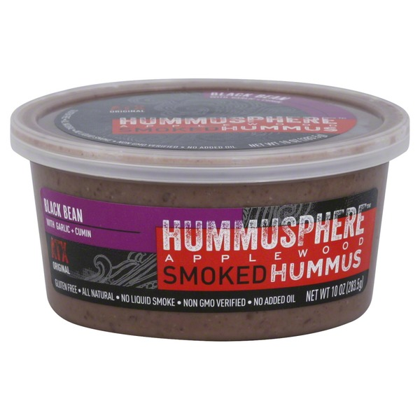 Hummusphere Hummus, Applewood Smoked, Black Bean