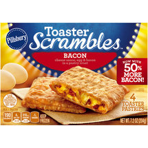 Pillsbury Toaster Scrambles Bacon Toaster Pastries