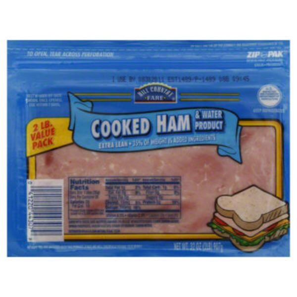 Hill Country Fare Cooked Extra Lean Value Pack Sliced Ham