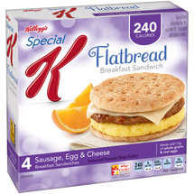Kellogg's Special K Sausage Egg & Cheese Flatbread Breakfast Sandwiches