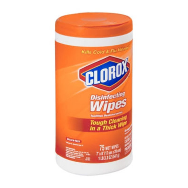 Clorox Disinfecting Wipes Orange Fusion - 75 CT
