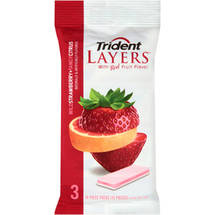Trident Layers Wild StrawberryTangy Citrus Sugarless Gum