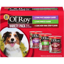 Ol' Roy Vp Ribeye/New York Strips/Filet Mignon Wet Dog Food