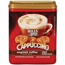 Hills Bros English Toffee Cappuccino Beverage Mix