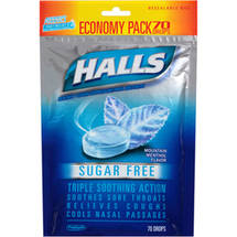 Halls Mountain Menthol Sugar Free Menthol Drops Cough Suppressant