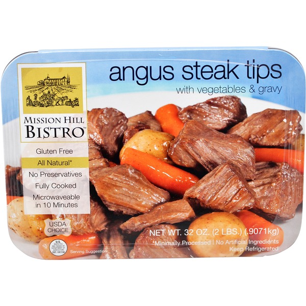 Mission Hill Bistro Angus Steak Tips With Vegetables And Gravy