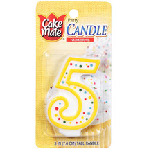 Cake Mate Numeral Candle #5