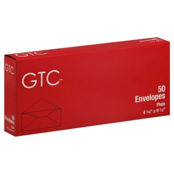 GTC Plain Envelopes 4 1/8 X 9 1/2 Inch