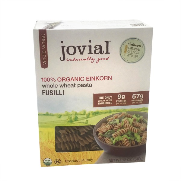 Jovial Organic Einkorn Whole Wheat Pasta Fusilli