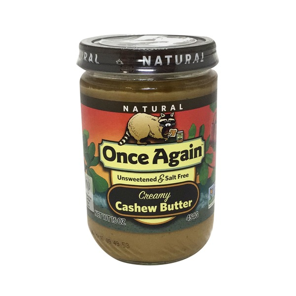 Once Again Unsweetened & Salt Free Creamy Cashew Butter