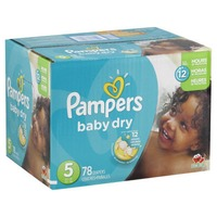 Pampers Baby Dry Pampers Baby Dry Diapers Size 5 78 Count Diapers