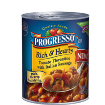 Progresso Rich & Hearty Tomato Florentine with Italian Sausage Soup