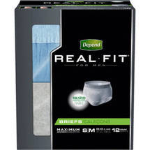 Depend Real Fit for Men Maximum Fitted Briefs S/M