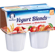 Gerber Yogurt Blends Apple Cinnamon with Whole Grains Snack