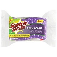 Scotch-Brite Stay Clean Scrub Sponges - 3 CT