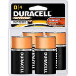 Duracell Coppertop Alkaline Batteries D 4 Batteries/Pack