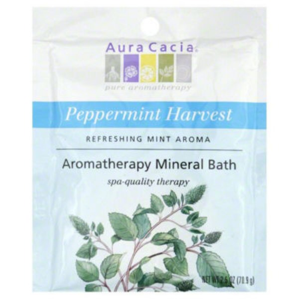 Aura Cacia Pure Aromatherapy Peppermint Harvest Mineral Bath Salts