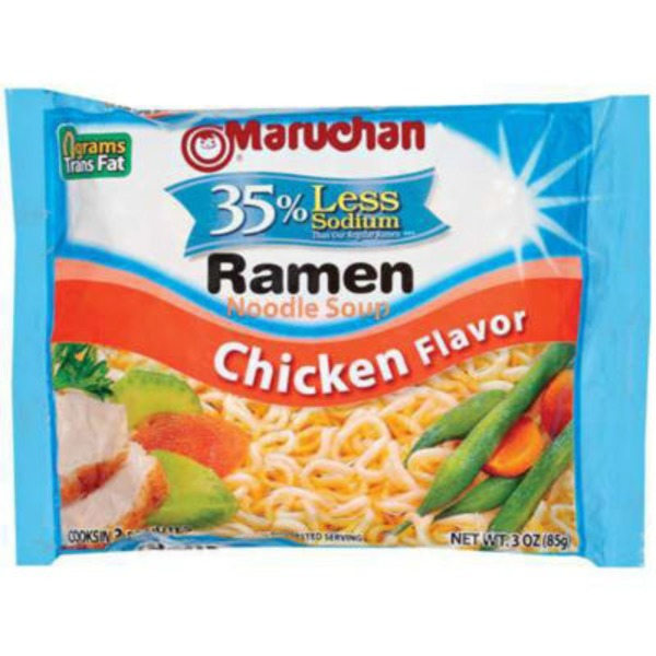 Maruchan Chicken Flavor 35% Less Sodium Ramen Noodle Soup