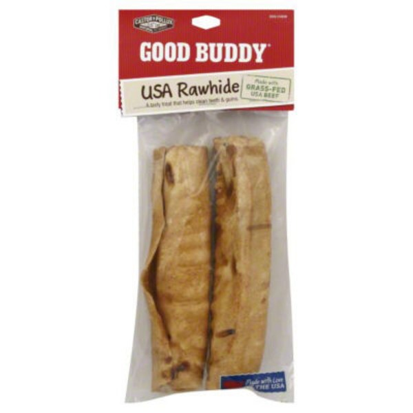 Castor & Pollux Dog Chew, USA Rawhide, Chicken Flavored, 7 Inch