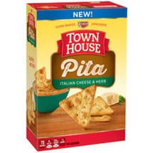 Keebler Town House Pita Italian Cheese & Herb Oven Baked Crackers