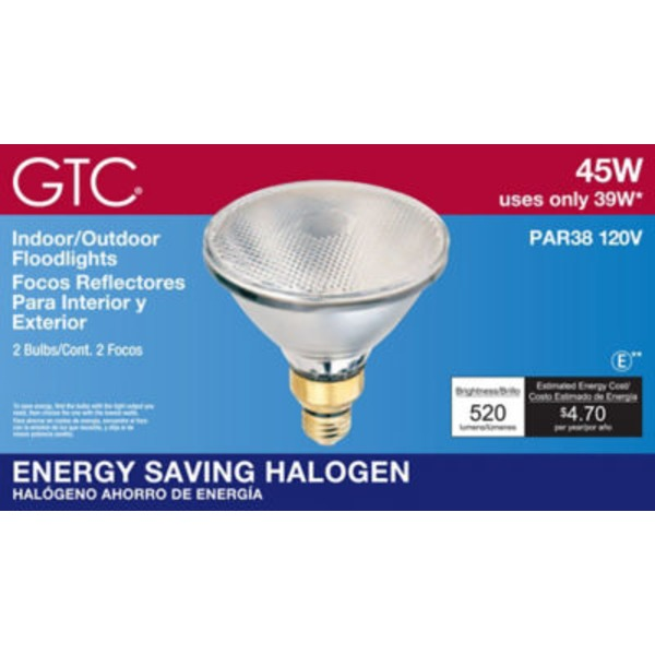 GTC 45 Watt Indoor/Outdoor Halogen Floodlights