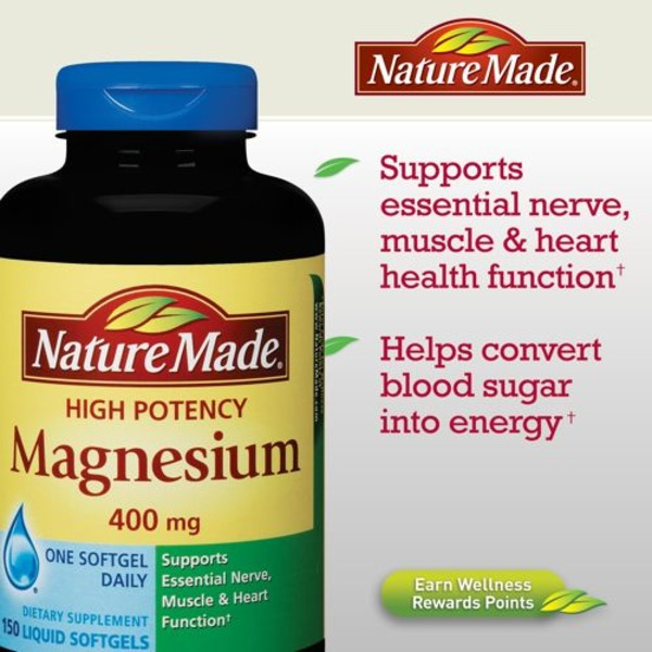Nature Made Magnesium High Potency 400 mg Liquid Softgels