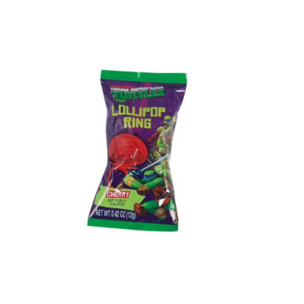 Frankford Candy & Chocolate Company Teenage Mutant Ninja Turtles Cherry Lollipop Ring