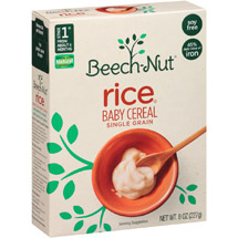 Beech Nut For Baby Rice Cereal