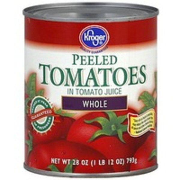 Kroger Peeled Whole Tomatoes In Juice