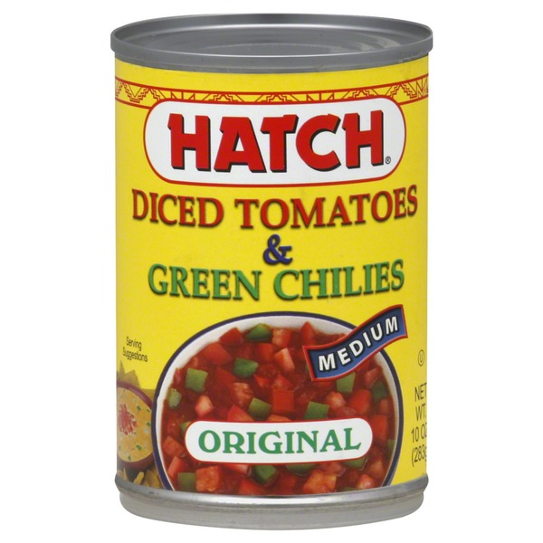 Hatch Diced Tomatoes & Green Chilies, Original, Medium