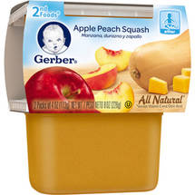 Gerber 2nd Foods Apple Peach Squash Baby Food