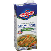 Swanson Chicken Natural Goodness 100% Fat Free No MSG Broth