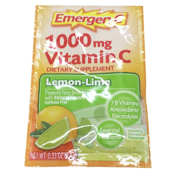 Emergen-C Health & Energy Booster Vitamin C 1000 Mg Lemon Lime Drink Mix