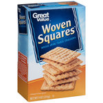 Great Value Woven Squares Whole Grain Snack Crackers
