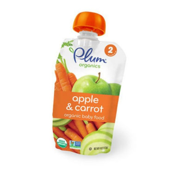 Plum Baby Stage 2 Apple & Carrot Baby Food